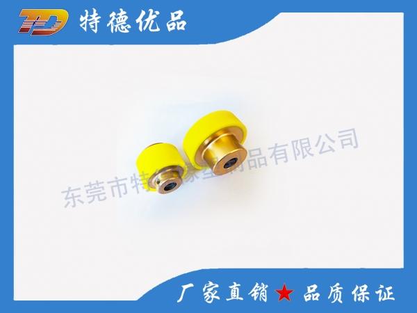 Bearing rubber wheel